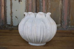 Lotus Hand Carved Planter, Made from Marble - 29cm diameter